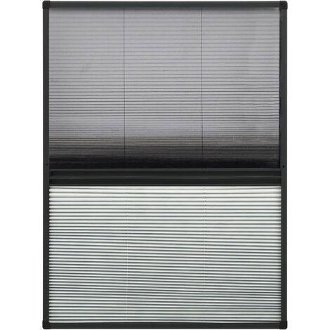 Moustiquaire plissée pour fenêtre Aluminium 80x120 cm