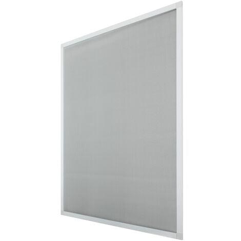 Moustiquaire pour fenêtre 100x120cm cadre blanc en aluminium protection insectes