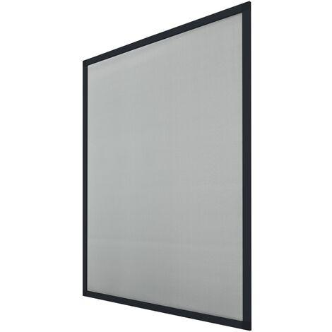 Moustiquaire pour fenêtre 120x140cm cadre en aluminium anthracite anti moustique