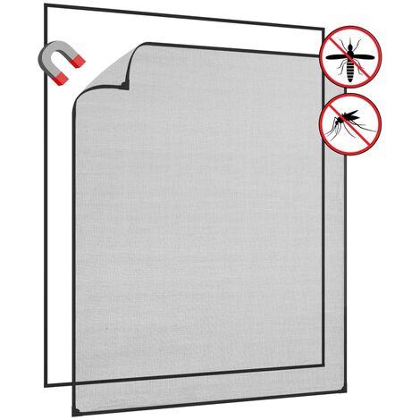 Moustiquaire pour fenêtre Anthracite 120x140 cm Fibre de verre
