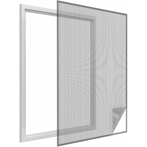 Moustiquaire pour fenêtre avec bande auto-agrippante 150x180 cm 150x180 cm
