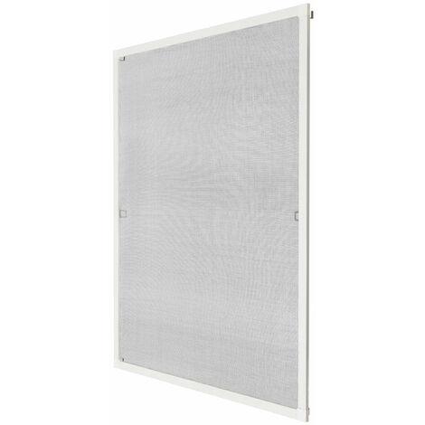 Moustiquaire pour fenêtre cadre fixe en aluminium 100x120 cm blanc - Blanc