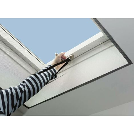 Moustiquaire pour fenêtre de toit lavable - cadre anthracite - 150 x 180 cmWestfalia