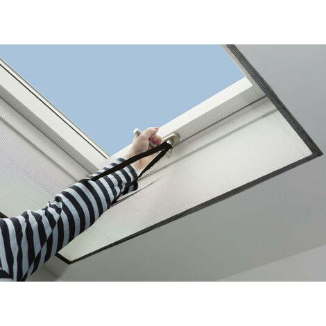 Moustiquaire pour fenêtre de toit lavable - cadre blanc - 150 x 180 cmWestfalia