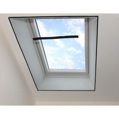 Moustiquaire pour fenêtre de toit, noire, 2 piècesWestfalia