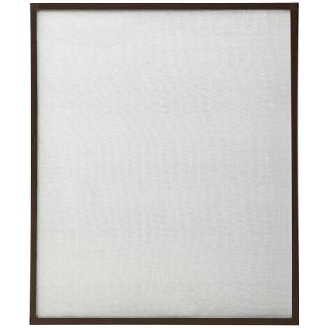 Moustiquaire pour fenêtre Marron 110x130 cm