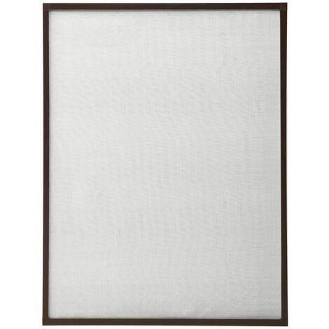 Moustiquaire pour fenêtre Marron 80x120 cm