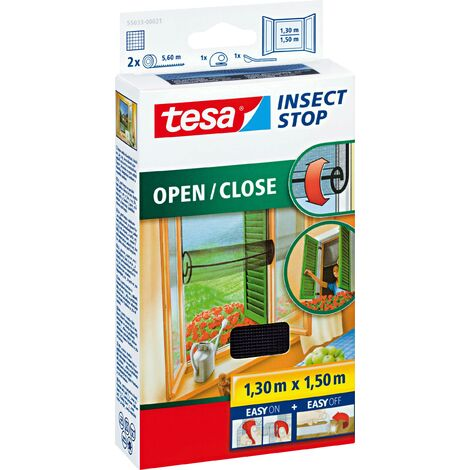 Moustiquaire pour fenêtre tesa 55033-21 (L x l) 1300 mm x 1500 mm anthracite 1 pc(s) W621001