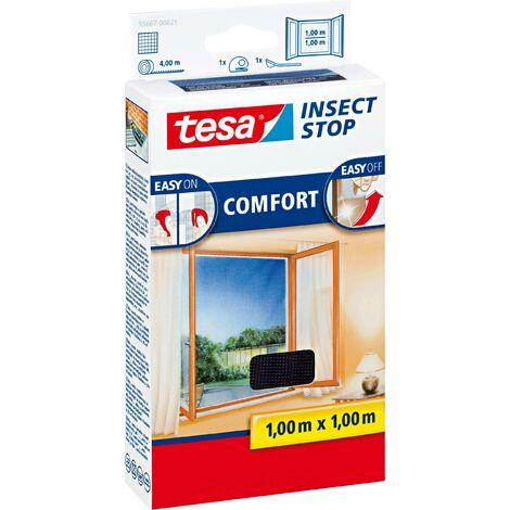 Moustiquaire pour fenêtre Tesa - 'Comfort' Blanc 1,30 x 1,30 m