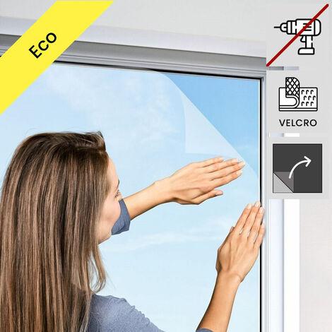Moustiquaire pour fenetre velcro eco Blanc 150x180 cm - Blanc
