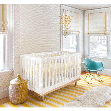 Moustiquaire pour lit bébé avec fermeture zippée universel