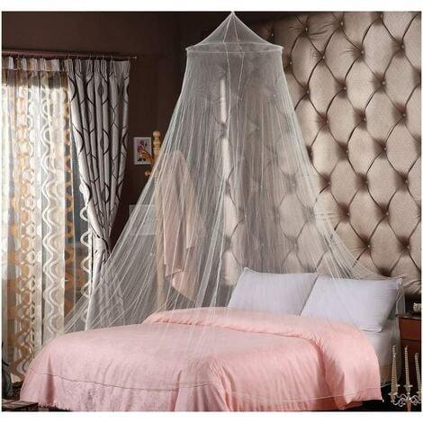 Moustiquaire pour lits doubles lit simple moustiquaire blanche protection contre les moustiques protection contre les moustiques à mailles fines pour les voyages et à la maison moustiquaire