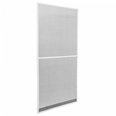 Moustiquaire pour porte cadre fixe en aluminium 95x210 cm blanc - Blanc