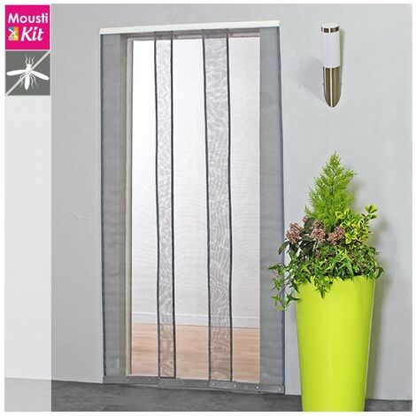 Moustiquaire rideau Confort H230 cm x L100 cm coloris gris - Gris