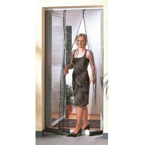 Moustiquaire rideau de porte 1,20m x 2,50m sur rail alu