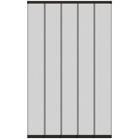 Moustiquaire rideau de porte à lamelle avec fermeture automatique 125x240 cm