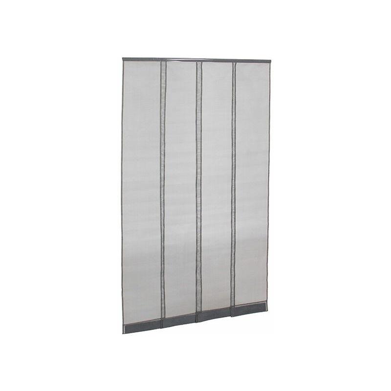 moustiquaire rideau de porte gris l1000 x h2300mm. Black Bedroom Furniture Sets. Home Design Ideas
