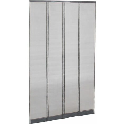 moustiquaire rideau de porte gris l1000 x h2300mm recoupable 004015. Black Bedroom Furniture Sets. Home Design Ideas