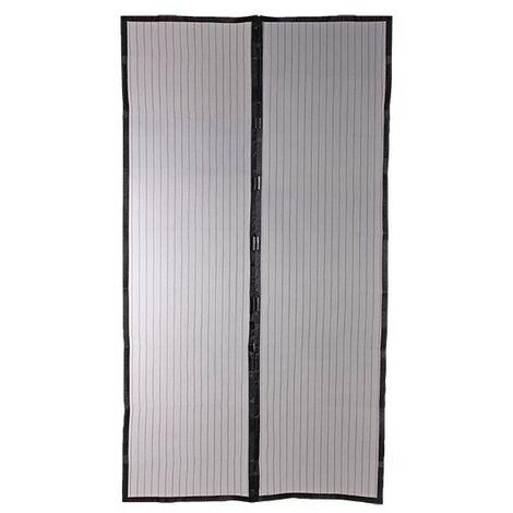 Moustiquaire Rideau magnétique pour Porte H220xL100 cm - Noir