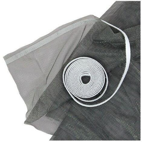 Moustiquaire Tulle auto-agrippante 100 cm x 100 cm coloris Gris - Gris