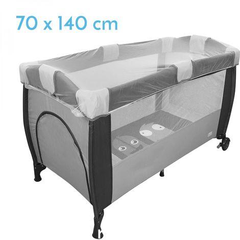 Moustiquaire universelle pour lit bébé 70 x 140 cm - Blanc transparent - Monsieur Bébé