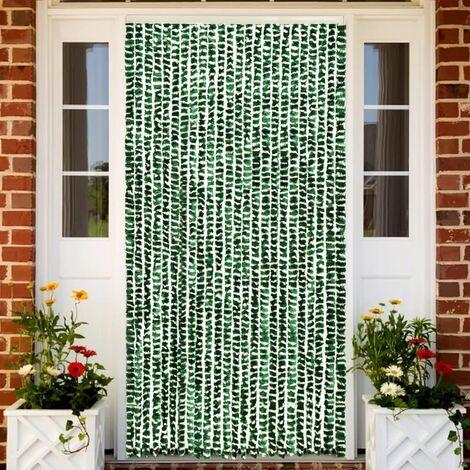 Moustiquaire Vert et blanc 100x220 cm Chenille