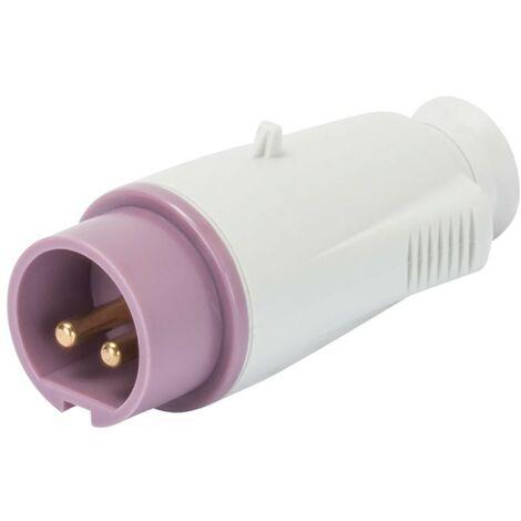 Móvil plug Gewiss 2P 16A IP44 púrpura 24V GW60064