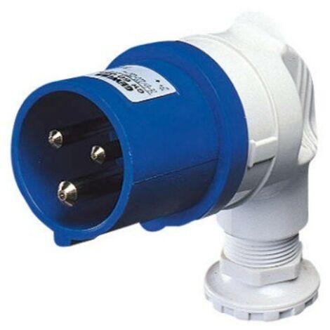Móvil plug Gewiss ángulo 2P+e 16A IP44 azul 220V GW60085