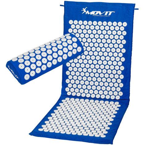 MOVIT® Akupressurmatte mit Kissen 130x50, dunkelblau