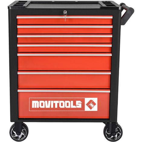MOVITOOLS RC7T - Carrello porta attrezzi da officina con 7 cassetti