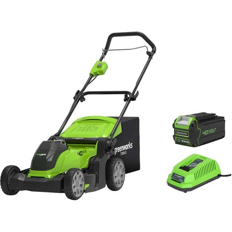 Mower GREENWORKS 40V - 41cm cut - 1 battery 4.0 Ah - 1 charger - G40LM41K4