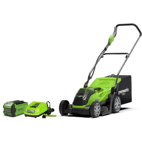 Mower GREENWORKS 40V - Cut of 35cm - 1 battery 2,0Ah - 1 charger - G40LM35K2