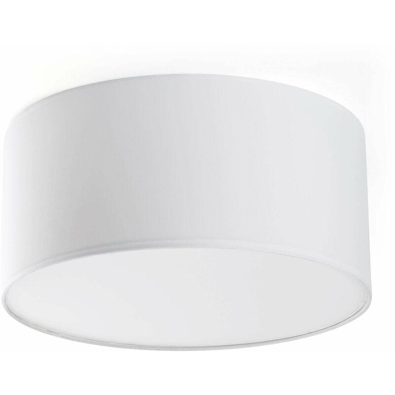 08-faro - Sieben weiße Deckenleuchte mit 2 Glühbirnen