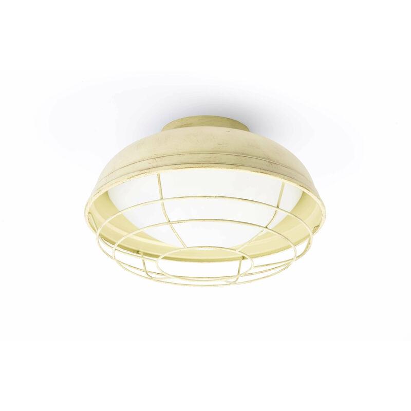 Helm 2-Licht Off-White Garten Deckenleuchte - 08-FARO