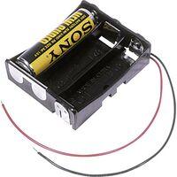 MPD BA3AAW Batteriehalter 3x Mignon (AA) Kabel (L x B x H) 58 x 48 x 16mm S333551