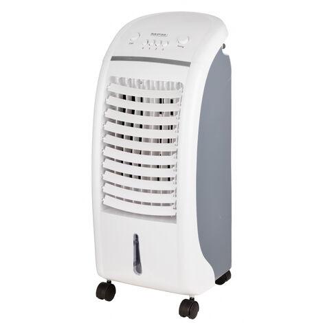 MPM Climatizador Evaporativo, Enfriador Aire Portátil, Función Humidificador, Purificador, Cajón Hielo 65W Blanco