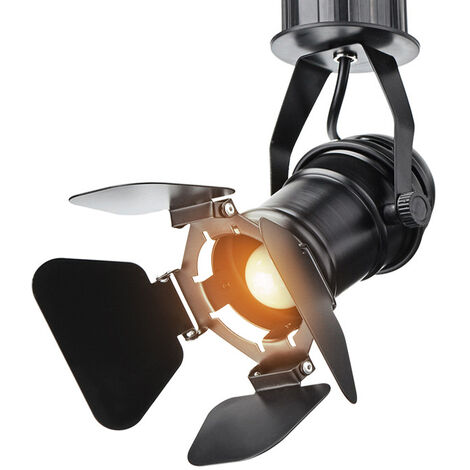 Mrosaa Retro Industrial LED Luz de techo E27 Bombilla Lámpara LED interior para cafetería Tienda de ropa Bar Estudio de exposición de arte