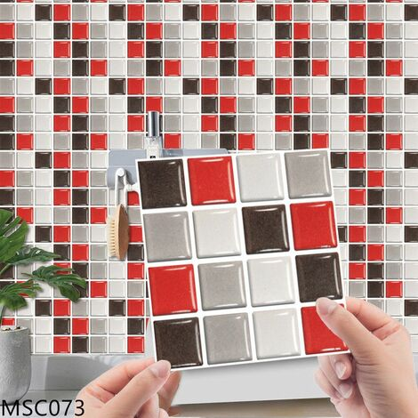 MSC073 Kitchen Bathroom PVC Tile Stickers