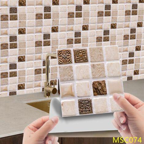 MSC074 Kitchen Bathroom PVC Tile Stickers