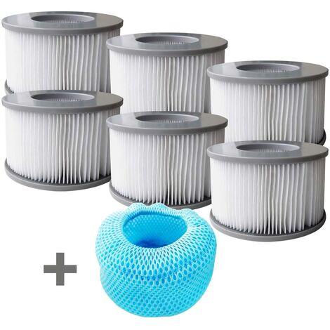 MSpa Whirlpool Filter 6er Set inkl. Netzabdeckung