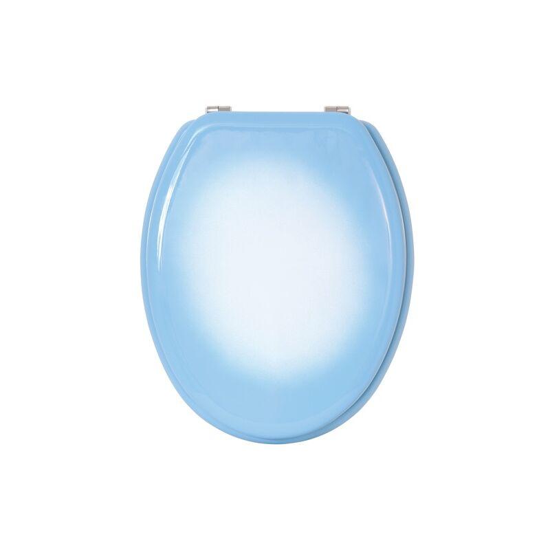 Multicolore MSV 141254 Abattant WC MDF Blue XS et charni/ères en Acier Inoxydable