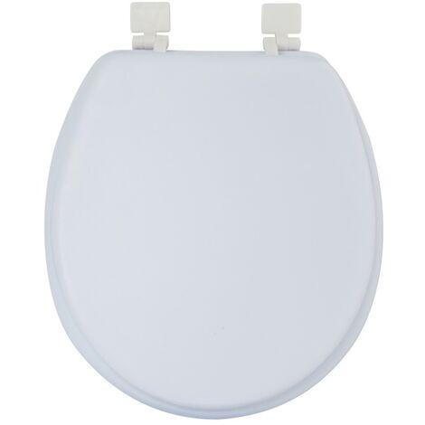 MSV Abattant Wc PVC Moelleux Blanc - Blanc