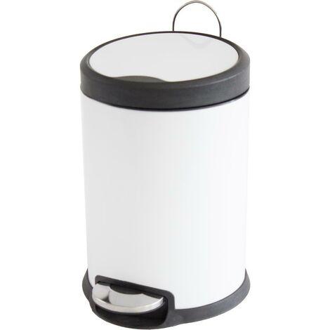 MSV Abfalleimer 3 Liter Weiß mit Absenkautomatik