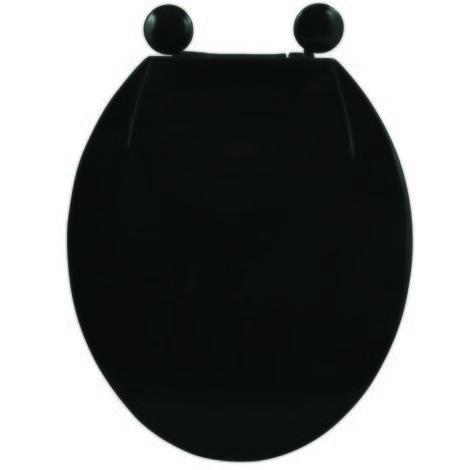 MSV Asientode inodoro PP Negro - Bisagras de PS - Negro