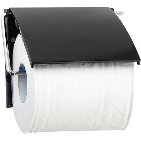 "MSV Bad Serie ""UNI"" Toilettenpapierhalter WC Rollenhalter Papierhalter Klopapierhalter Schwarz"