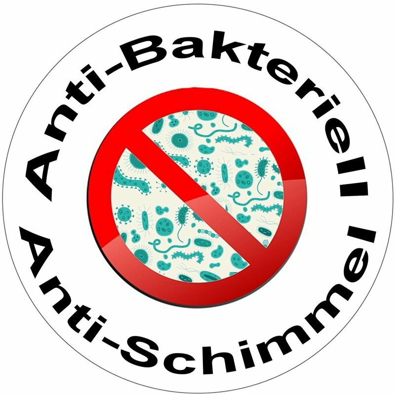 MSV Duschvorhang 180x1800cm Anti Schimmel Textil Badewannenvorhang Wannenvorhang