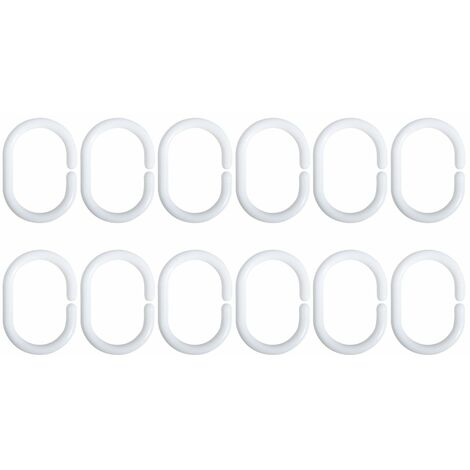 MSV Duschvorhangringe 12 Stück
