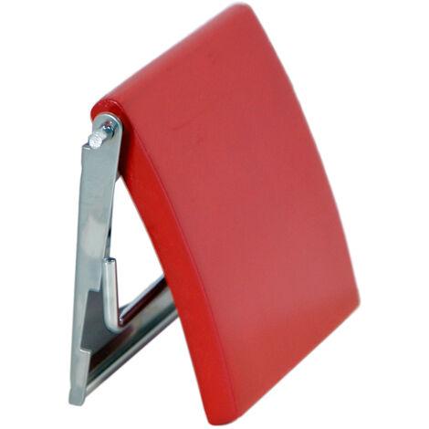 Portarrollos MSV de acero inoxidable y MDF en color rojo 13 x 15 x 11,5 cm
