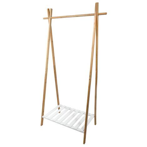 MSV Portant Bambou avec étagère - Bambou