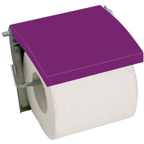 MSV Porte Rouleau Papier Wc Mural MDF & Inox Violet - Violet